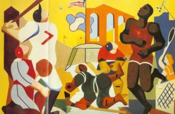Mural Of Sports 1937 1938 | Joseph Rugolo | Oil Painting