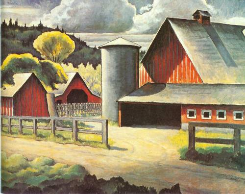 The Farm 1934 | Kenjiro Nomura | Oil Painting
