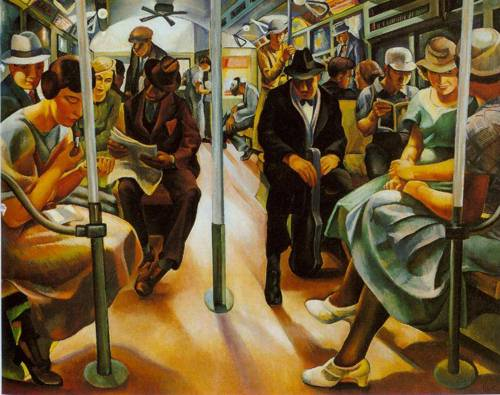 Subway 1934 | Lily Furedi | Oil Painting