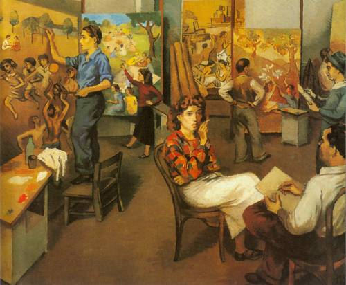Artists On Wpa 1935 | Moses Soyer | Oil Painting