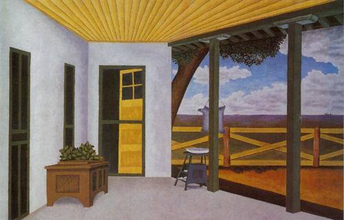 View Of The Artists Home 1938 | Pedro Cervantez | Oil Painting