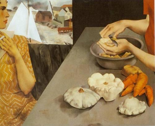 Vegetable Dinner 1927 | Peter Blume | Oil Painting