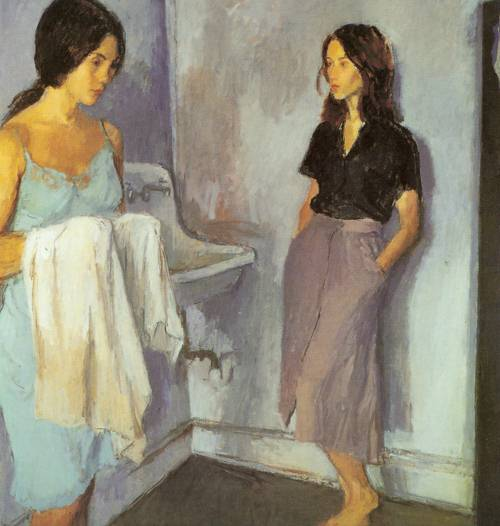 Annunciation 1980 | Raphael Soyer | Oil Painting