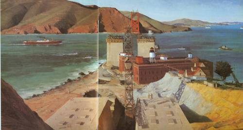 Golden Gate Bridge 1934 | Ray Strong | Oil Painting