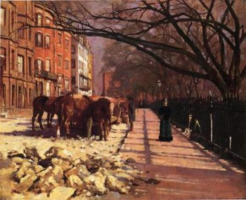 Beacon Street Boston 1884 | Theodore Robinson | Oil Painting
