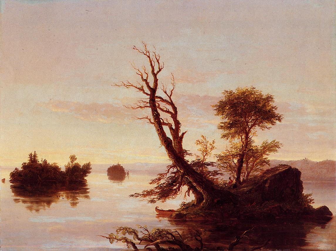 American Lake Scene 1844   Thomas Cole   Oil Painting