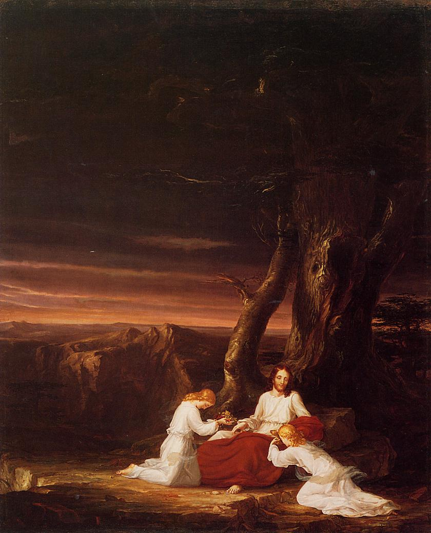 Angels Ministering to Christ in the Wilderness 1843   Thomas Cole   Oil Painting