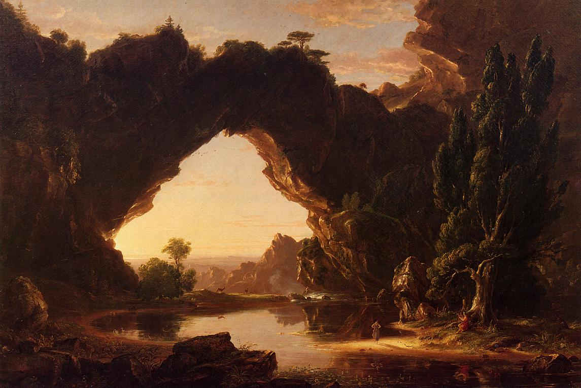 An Evening in Arcadia 1843   Thomas Cole   Oil Painting