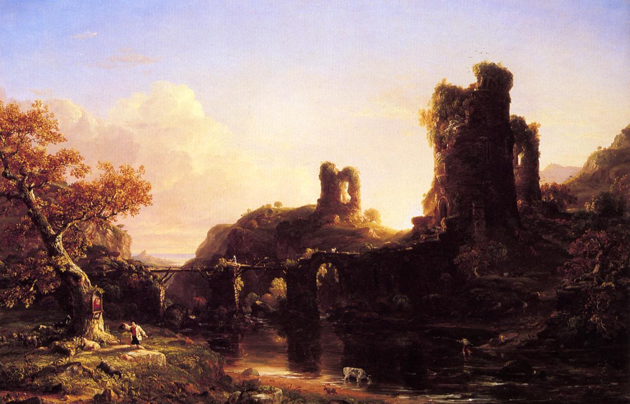 An Italian Auutumn 1844   Thomas Cole   Oil Painting