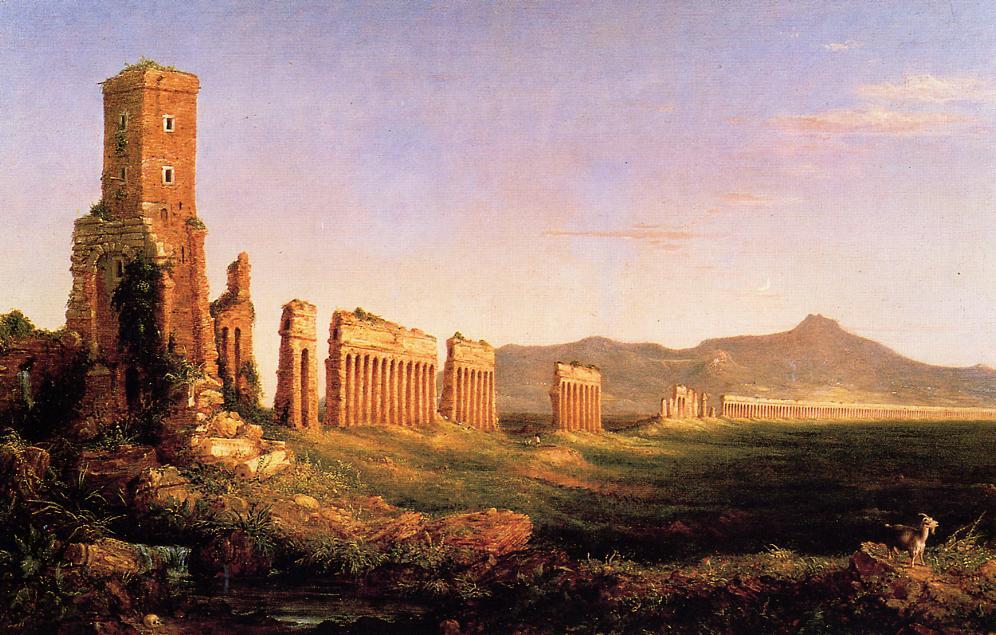 Aqueduct near Rome 1832   Thomas Cole   Oil Painting