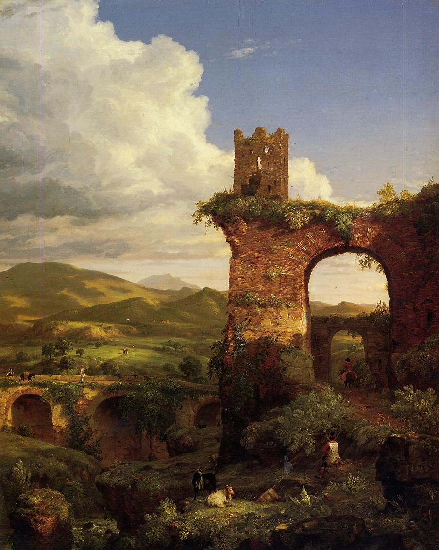 Arch of Nero 1846   Thomas Cole   Oil Painting