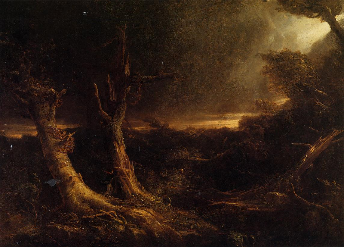 A Tornado in the Wilderness 1831 | Thomas Cole | Oil Painting