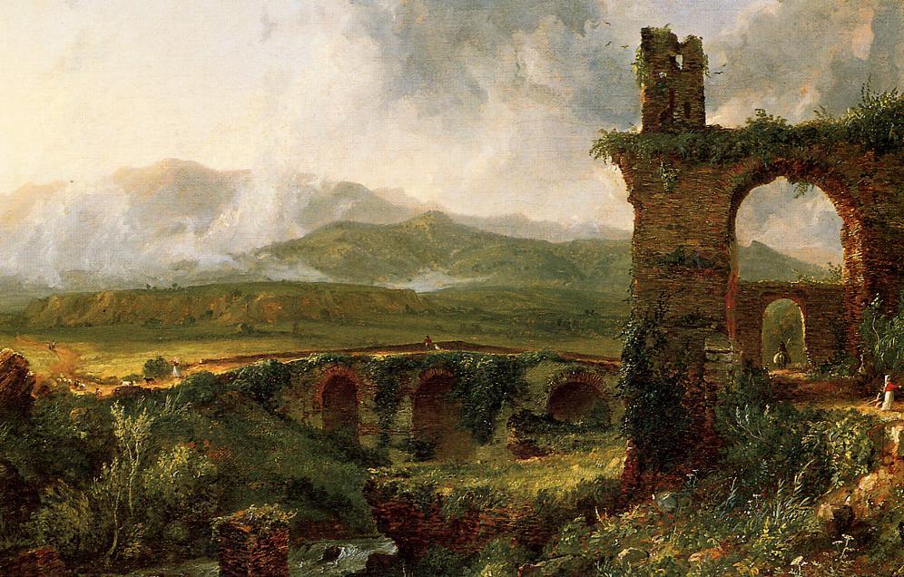 A View near Tivoli (aka Morning) 1830   Thomas Cole   Oil Painting