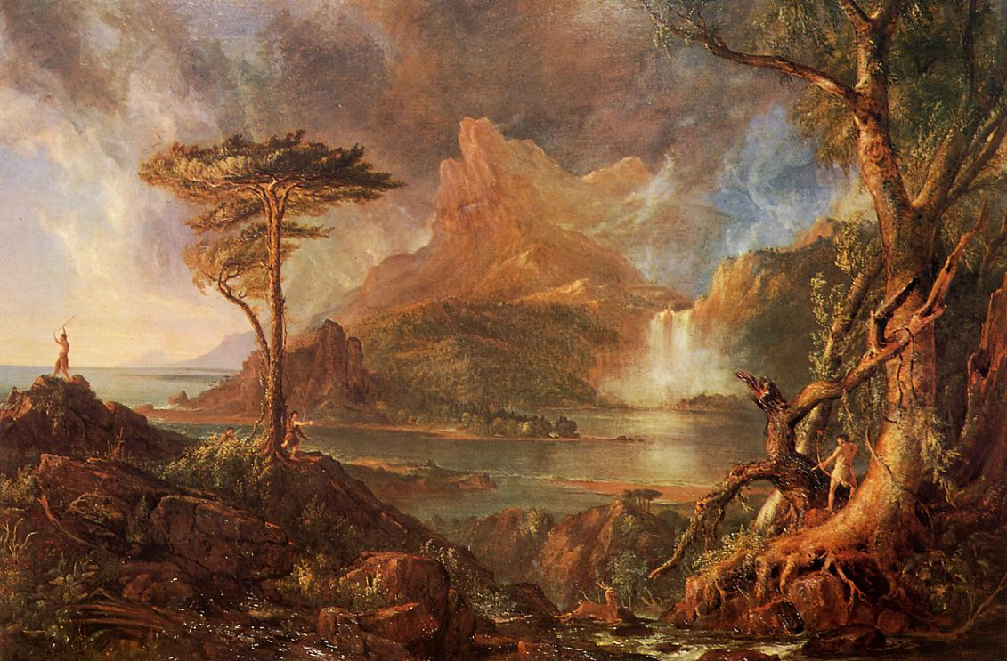 A Wild Scene 1831-1832   Thomas Cole   Oil Painting