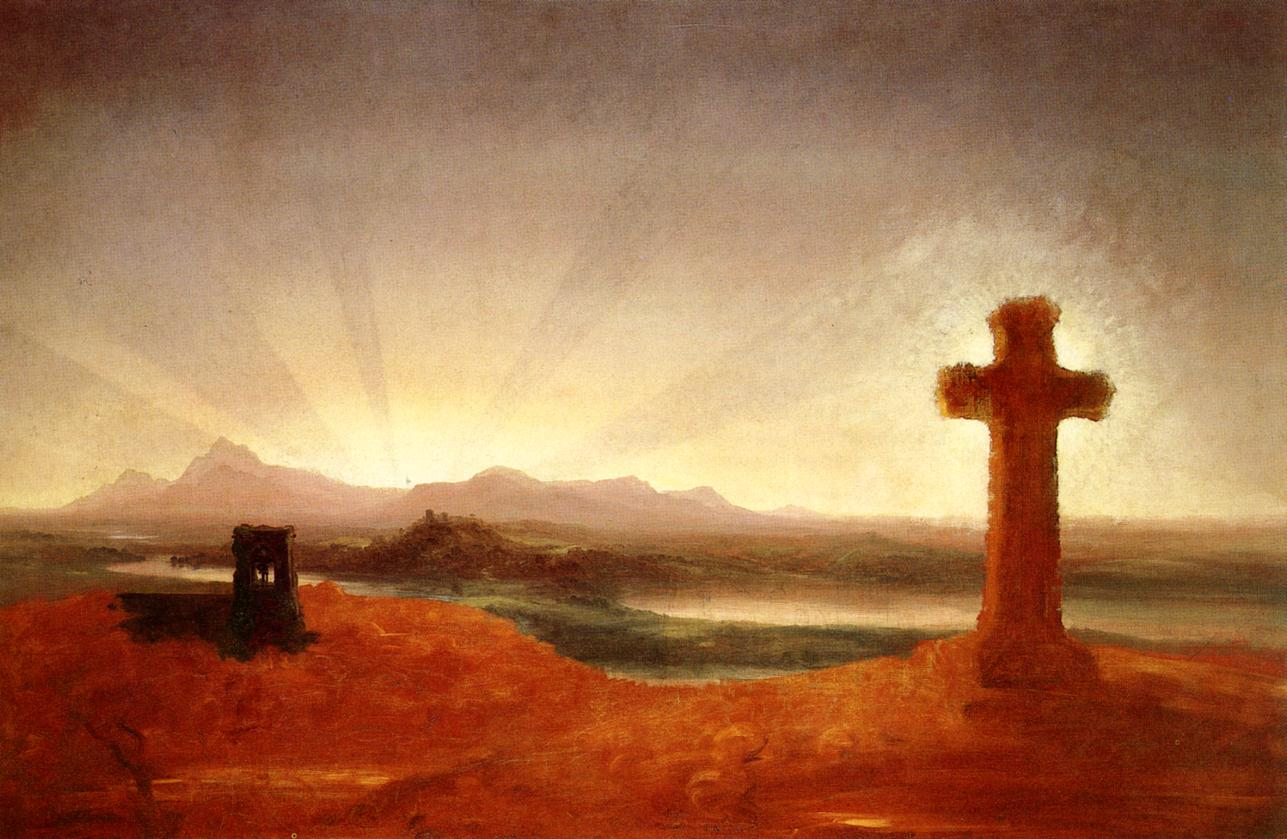 Cross at Sunset 1848   Thomas Cole   Oil Painting