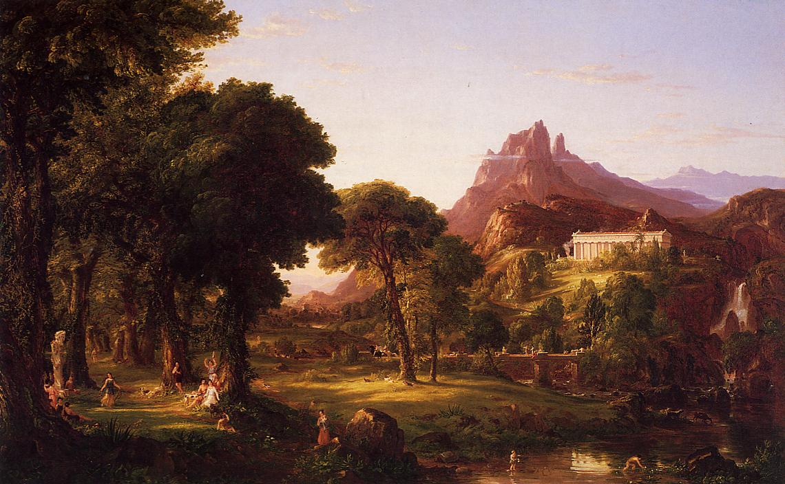 Dream of Arcadia 1838   Thomas Cole   Oil Painting