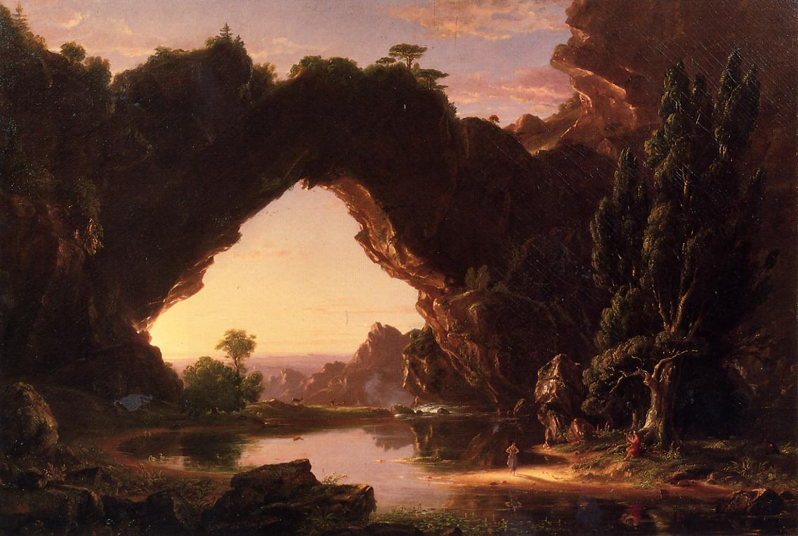 Evening in Arcadia 1843   Thomas Cole   Oil Painting