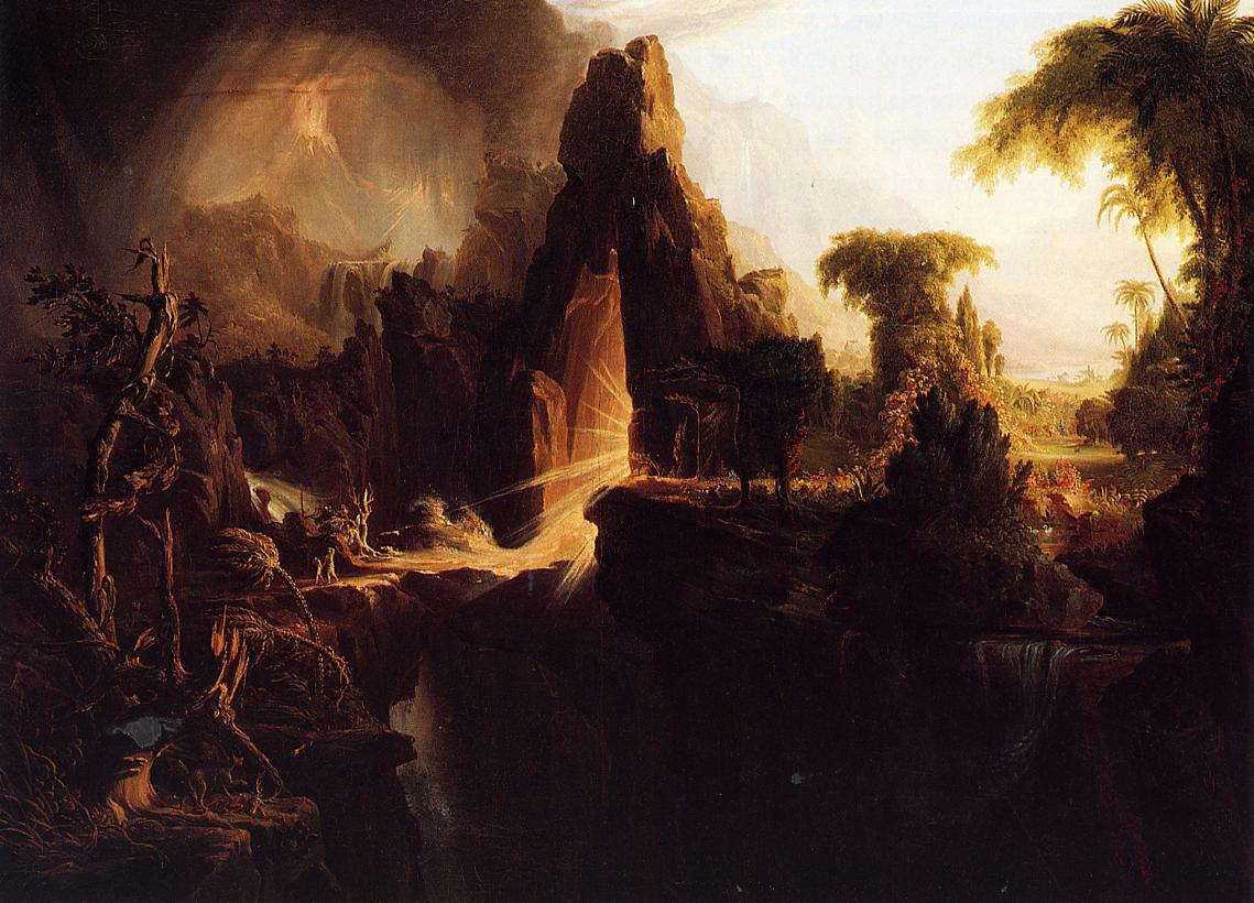 Expulsion from the Garden of Eden 1827-1828   Thomas Cole   Oil Painting