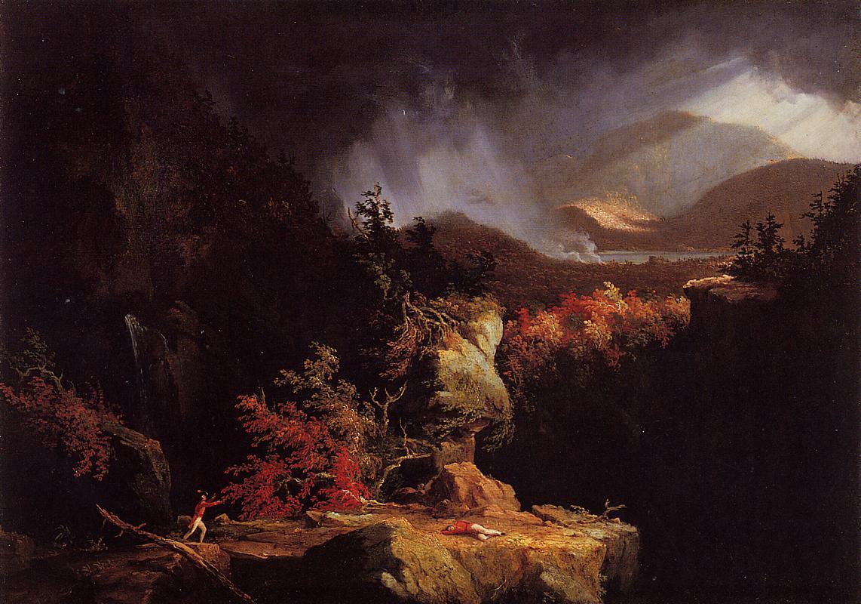 Gelyna (aka View near Ticonderoga) 1826-1828   Thomas Cole   Oil Painting