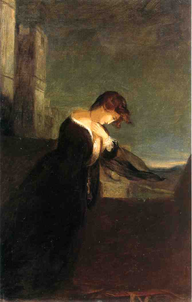 Lady on the Battlements of a Castle 1868 | Thomas Sully | Oil Painting