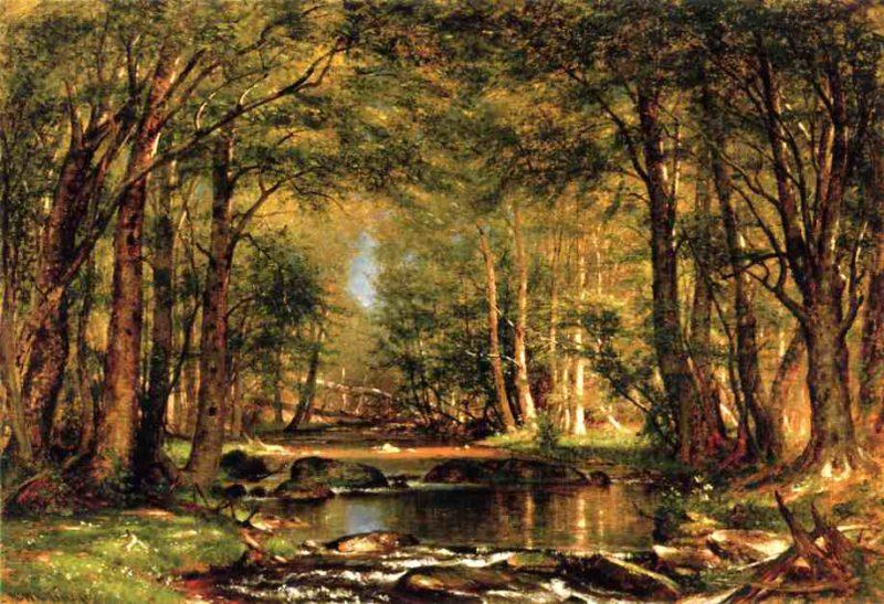 A Catskill Brook 1875 | Thomas Worthington Whittredge | Oil Painting