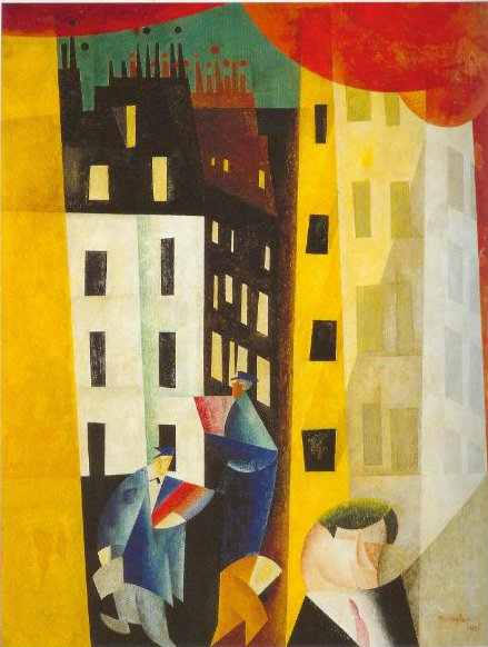 Architecture 11 The Man From Potin 1921 | Lyonel Feininger | Oil Painting