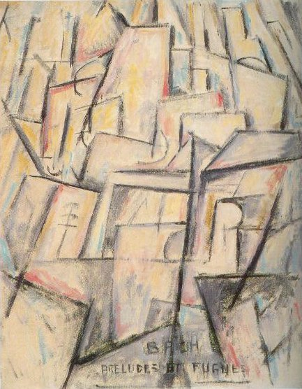 Musical Theme No 2 Bach Preludes And Fugues 1912 | Marsden Hartley | Oil Painting