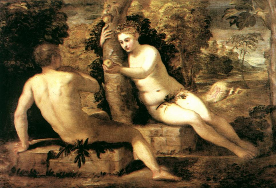 Adam And Eve 1550 | Tintoretto | Oil Painting