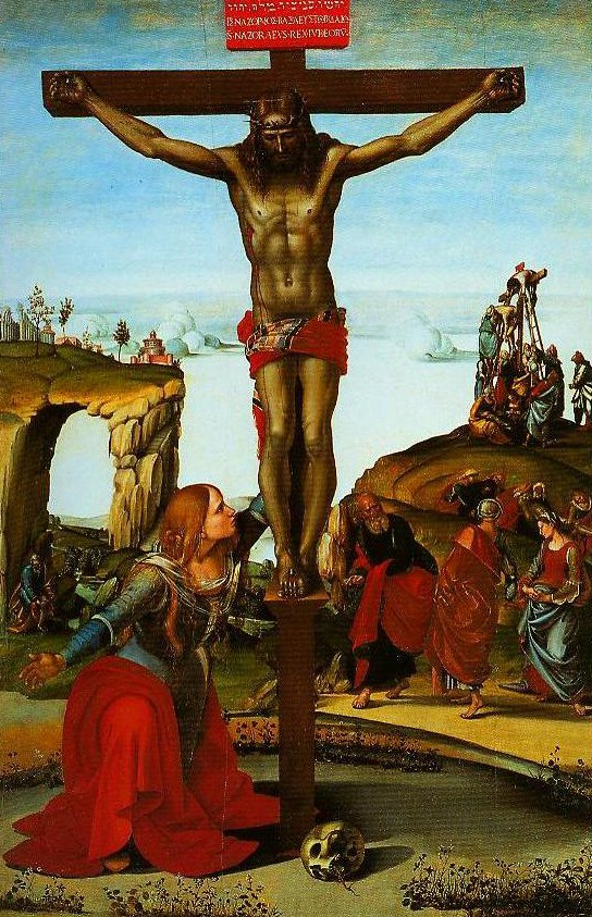 The Crucifixion with St Mary Magdalen | Luca Signorelli | Oil Painting