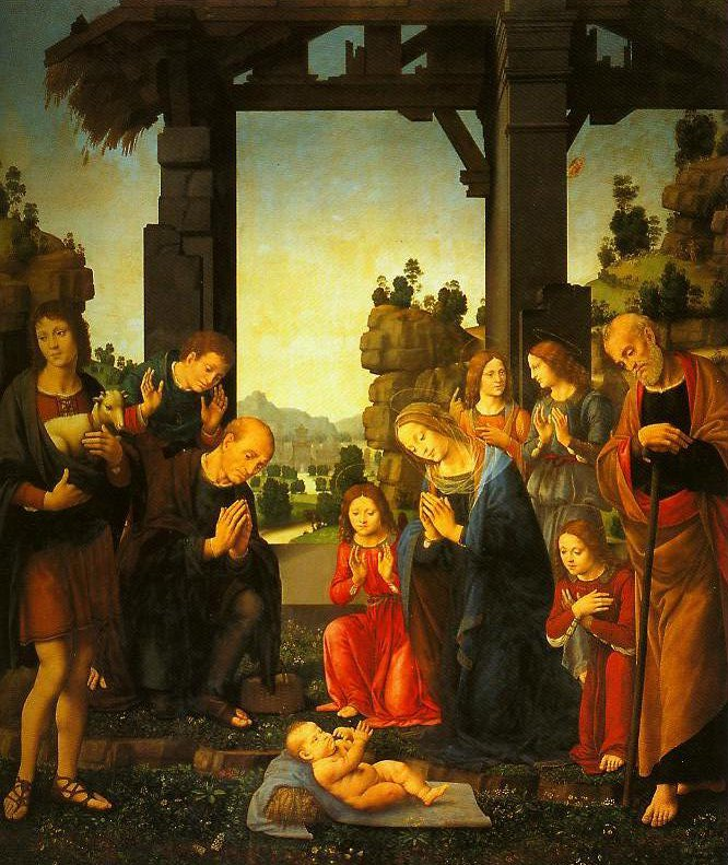 The Adoration of the Shepherds | Lorenzo Di Credi | Oil Painting
