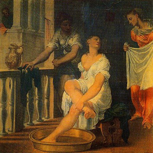 Bathsheba at Her Bath | Domenico Brusasorci | Oil Painting