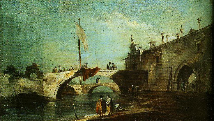 Caprice with Brighs over a Canal | Francesco Guardi | Oil Painting