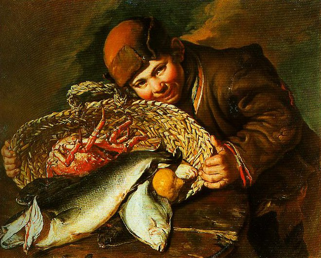 Boy with a Basket of Fish | Giacomo Ceruti | Oil Painting