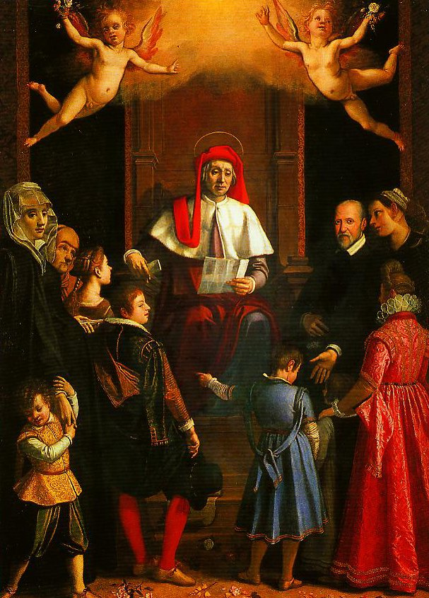 St Ivo Protector of Widows and Orphans   Jacopo Da Empoli   Oil Painting