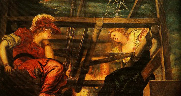 Athena and Arachne | Jacopo Tintoretto | Oil Painting