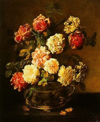 A Vase of Roses | Pandolfo Reschi | Oil Painting