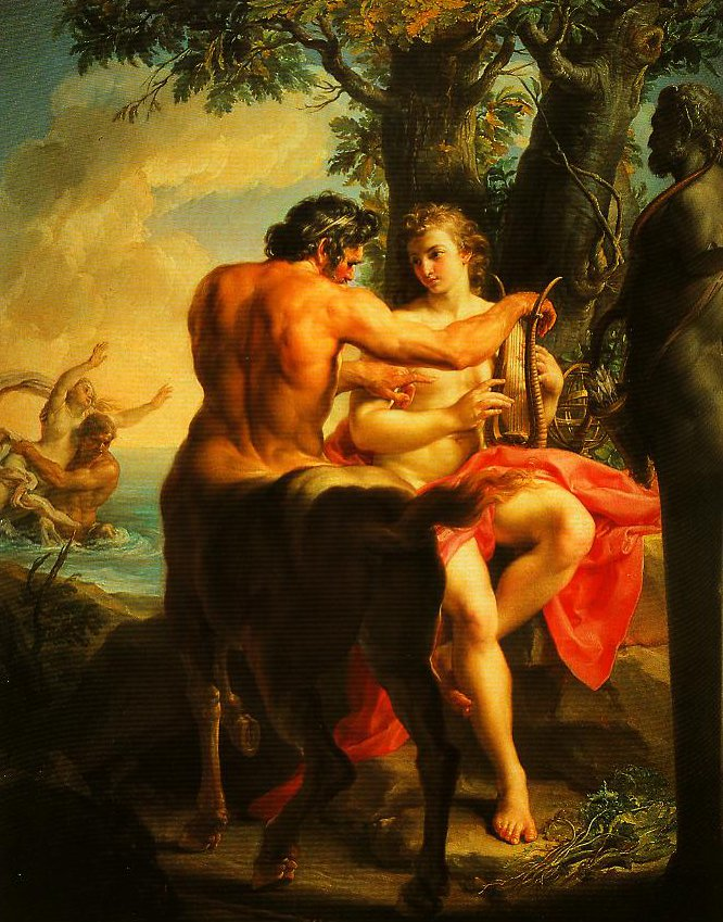 Achilles and the Centaur Chriron | Pompeo Girolamo Batoni | Oil Painting