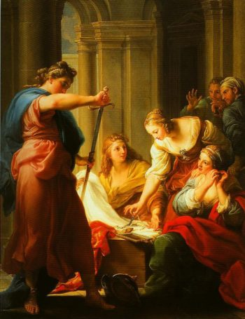 Achilles at the Court of Lycomedes | Pompeo Girolamo Batoni | Oil Painting