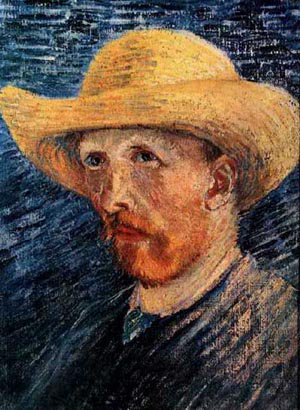 Self Portrait With Straw Hat 1 1887 | Vincent Van Gogh | oil painting