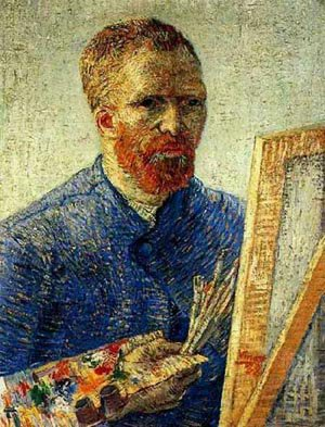 Self Portrait As An Artist 1888 | Vincent Van Gogh | oil painting