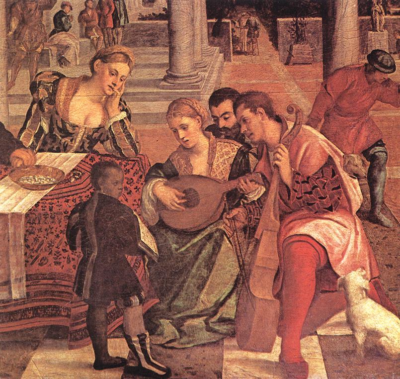 Dives and Lazarus (detail) 1540-50 | Veronese Bonifacio | oil painting