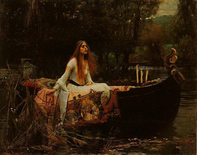 The Lady Of Shalott | John William Waterhouse | oil painting