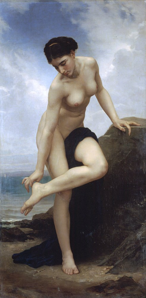 Apres Le Bain 1875 | William Bouguereau | oil painting
