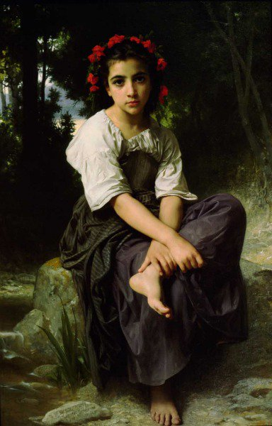 At The Edge Of The River | William Bouguereau | oil painting
