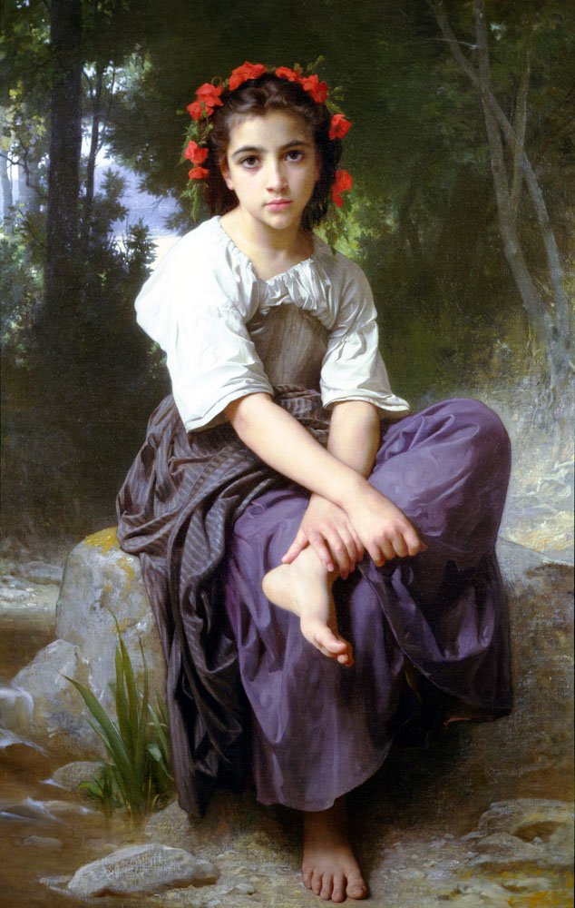 Au Bord Du Ruisseau | William Bouguereau | oil painting