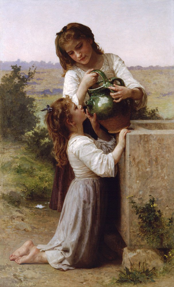 A La Fontaine | William Bouguereau | oil painting