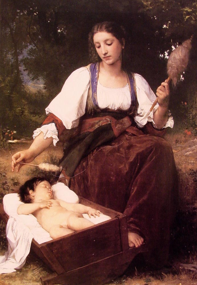 Berceuse | William Bouguereau | oil painting