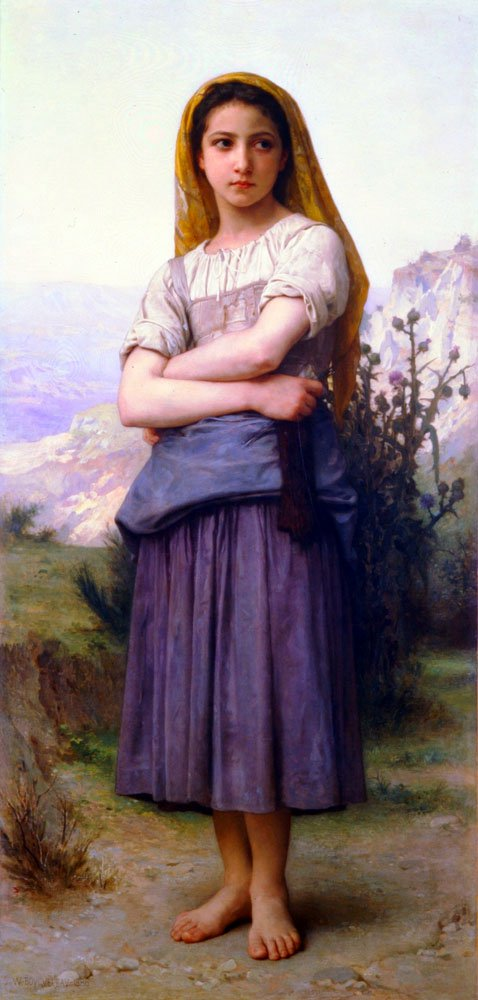 Bergere 1886 | William Bouguereau | oil painting