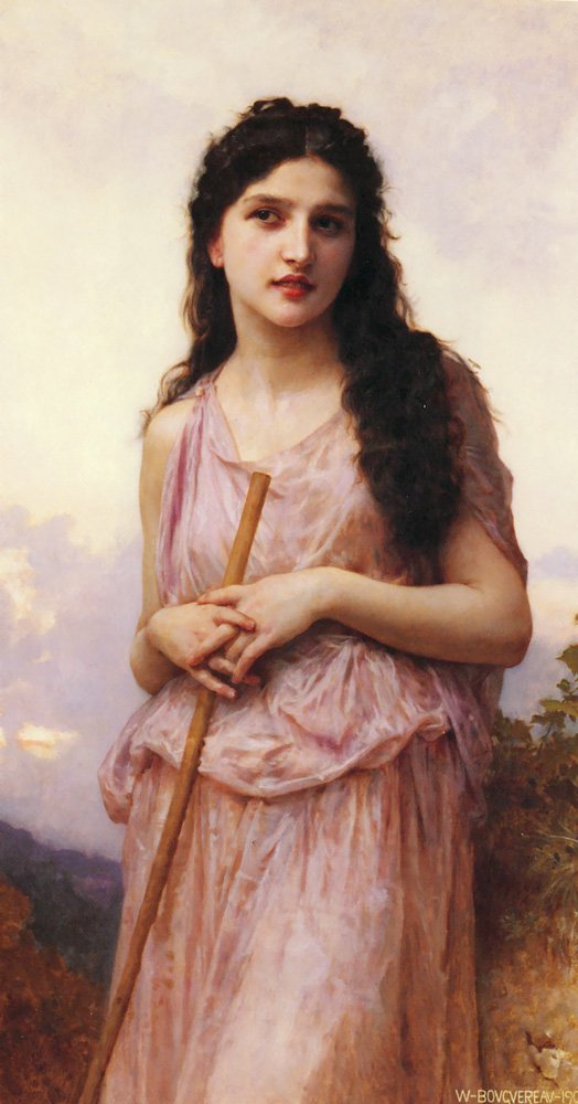 Meditation | William Bouguereau | oil painting