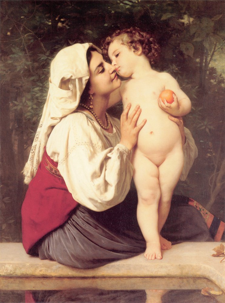 Le Baiser 1863 | William Bouguereau | oil painting